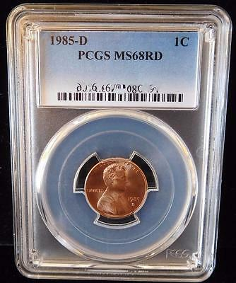 1985-D PCGS MS68RD Lincoln Cent