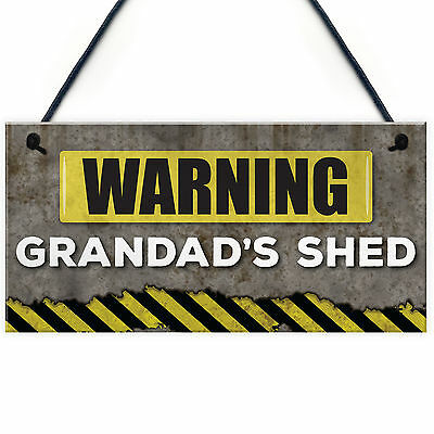 Grandads Shed Grumpy Old Git Garden Funny Hanging Sign Fathers Day//Birthday Gift