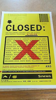 "RARE Simms ""CLOSED"" Poster MINT!"