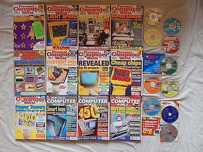 Lot collection PCW Personal Computer World 12 Months set from 1998 with CD/DVDs