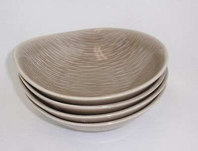 Raymor Contempora Steubenville Fawn Brown Cereal Soup Bowls Set of 4