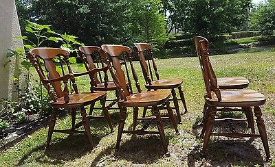 Heywood Wakefield Set Of 6 Dining Chairs