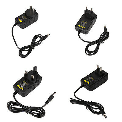 1Pc DC 12V 5V 1A/2A AC Adapter Charger Power Supply 5.5mm*2.5mm 5.5mm*2.1mm Plug