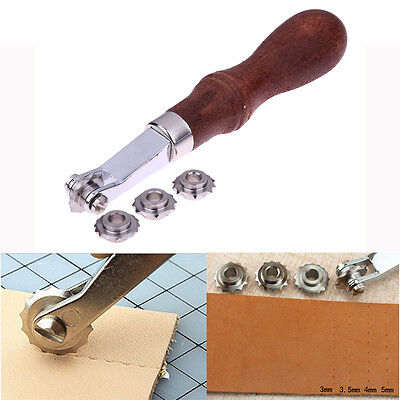 Leather Craft Sewing Punch Tools Kit Leathercraft Spacer Embossing Working Set
