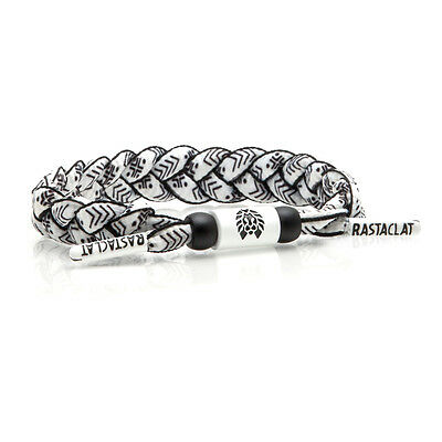 Rastaclat Sensation Black White Braided Shoelace Wristband Bracelet RC001SENS