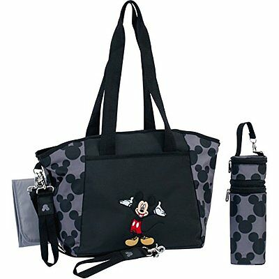 Brand New Disney Baby 5-in-1 Diaper Tote Set Mickey Mouse Changing Pads Holder