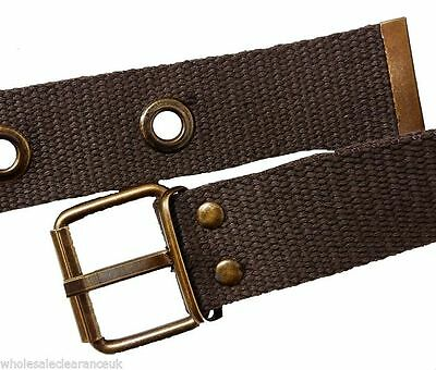 Belt - Boys Fashion Brown Fabric with Buckle, FREE POST, New, UK SELLER Kids