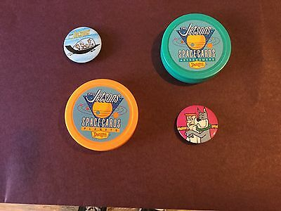 the JETSONS - SPACE CARDS + BUTTONS. SET OF FOUR