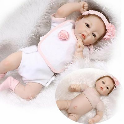 "19"" Handmade Real Looking Newborn Baby Vinyl Silicone Realistic Reborn Doll Girl"