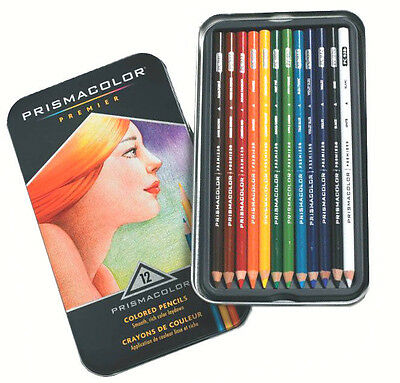 Sanford Prismacolor Premier Colored Pencils set of 12 Brand New