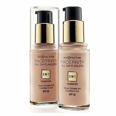 Max Factor Facefinity 3 in1 Flawless Foundation Choose From 6 Top selling Shades