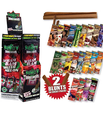 2x Juicy Blunts Flavoured Flavour Cigarette smoking rolling paper tip wrap fresh