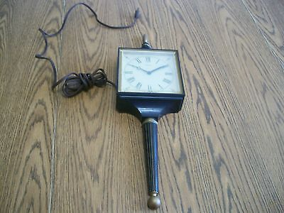 vintage sunbeam electric wall hanging clock for parts or repair
