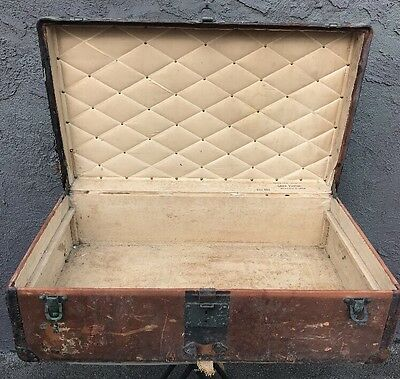 1890s Louis Vuitton Steamer Trunk Old Original Estate 1800s London Antique Rare