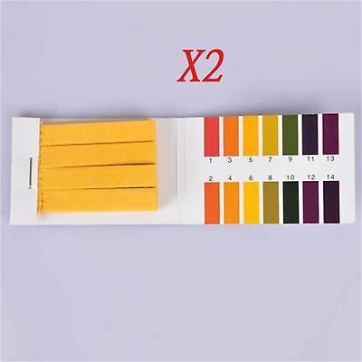 2PCS 160 pH Test Strips Alkaline Acid 1-14 Paper Litmus Tester Lab Urine Saliva