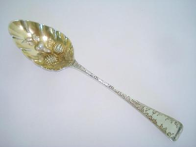 Fine Antique George Iii Gilt Sterling Silver Berry Spoon London 1797