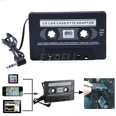 Car Cassette Tape Adapter Converter for MP3 iPhone 4 4S iPod Touch Nano CD