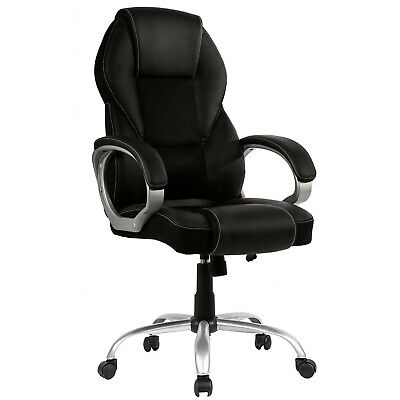 New High Back PU Leather Office Chair Ergonomic Executive Task Chair Swivel T96