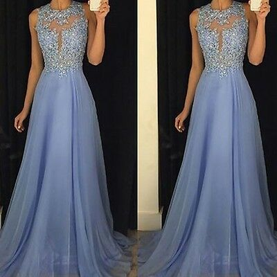 Chiffon Long Dress Formal Prom Cocktail Party Ball Gown Evening Bridesmaid Dress