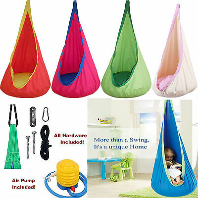 Superieur Child Pod Swing Chair Reading Nook Tent Indoor Outdoor Hanging Seat Hammock  Kids