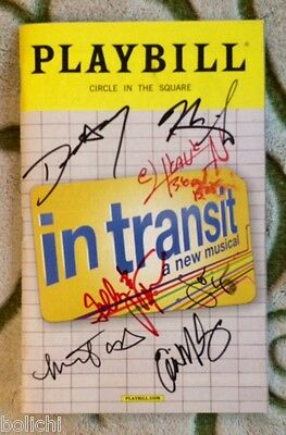 Cast signed In Transit playbill