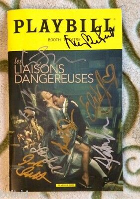 Signed Les Liaisons Dangereuses playbill - Liev Schreiber and whole cast.