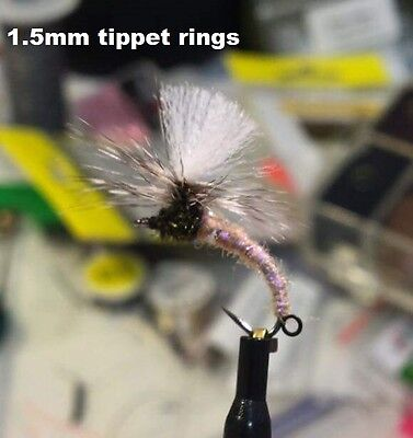 20) 1.5mm tippet rings, tying indicator dry flies or tandem nymph rigs