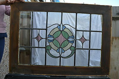 Leaded stained light glass window for above door R482. WORLDWIDE DELIVERY!!!