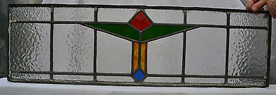 Leaded stained light glass window panel for above door. R442a. DELIVERY!!!