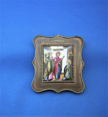 ANTIQUE RUSSIAN TRAVELING ICON  - 19th. Century.
