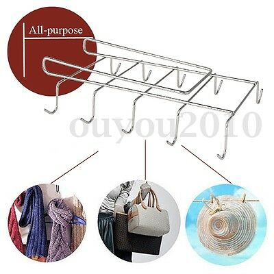 Mug Holder Coffee Tea Cup Rack Storage Kitchen Under Shelf Cabinet Hanger Hooks
