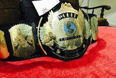 Wwf Winged Eagle Adult Wrestling Championship Replica Belt In Thick Brass!!