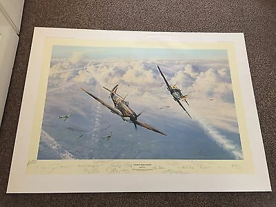'combat Over London' By Robert Taylor  Limited Edition  Lots Of Signatures