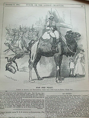 Antique Print 1884 Punch Or The London Charivari War And Peace Political Humour