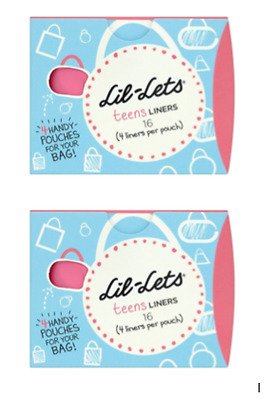2 x Starter Pack Lil Lets Teens Liners Day 16 Pack  Brand New