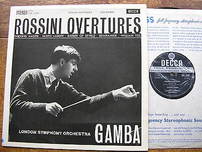 SXL 2266 ROSSINI: OVERTURES   PIERINO GAMBA / LONDON SYMPHONY   ED1  WBg  NM
