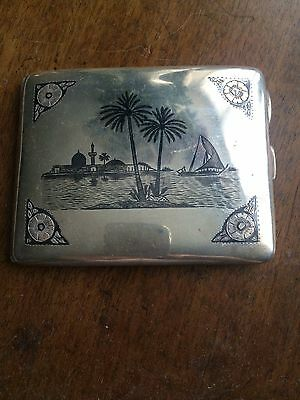 Iraq silver niello cigarette case
