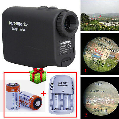7.2°View Angle Laser Range Finder portable 600m with 5 modes+2xBattery/Charger