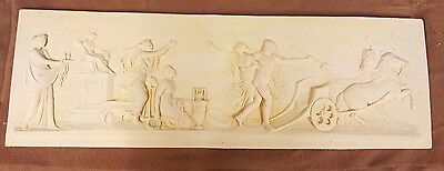 large old Plaster Plaque,..Classical Greece style....decorators find