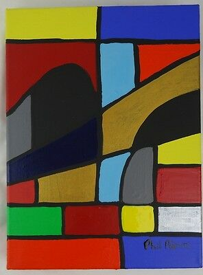 Phil Pierre - Solids 023 - new original abstract art painting on cotton canvas