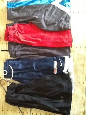 Lot Of 5 Boys Size 14-16 Basketball Shorts Nike Under Armour And More