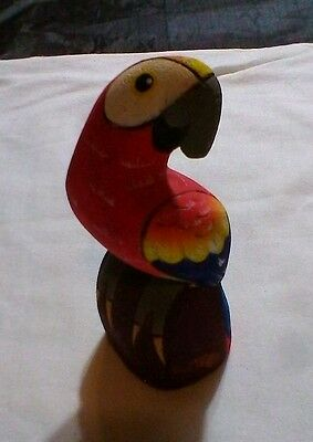 PARROT FIGURINE Lightweight Wood Macaw Figurine CORK PARROT Figure SCULPTURE