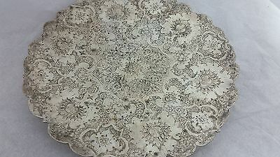 Persian Sterling Silver Round Tray