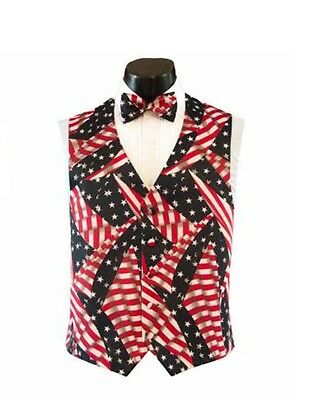 Historical American Flag Tuxedo Vest and Bow Tie