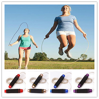 Dazzle colour bearing steel wire rope skipping sports Fitness jumping rope 2.8m