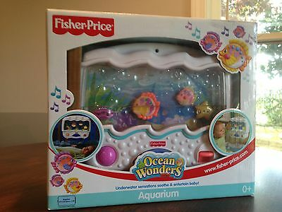 Fisher-Price Ocean Wonders Aquarium Baby Crib Soother Music Bubbles W/ BATTERIES