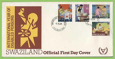 Swaziland 1981 Disabled Persons set on First Day Cover