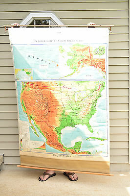 Denoyer Geppert United States Map with Mexico 1967