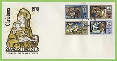 Swaziland 1978 Christmas set on First Day Cover