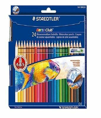 Aquarellfarbstifte STAEDTLER Aquarellstift Noris Club 24er Kartonetui